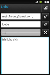 Sony Xperia Go - E-Mail - E-Mail versenden - Schritt 12