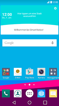 LG H815 G4 - Internet - Automatische Konfiguration - Schritt 1