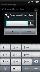 Sony Xperia Arc S - Voicemail - Manual configuration - Step 7