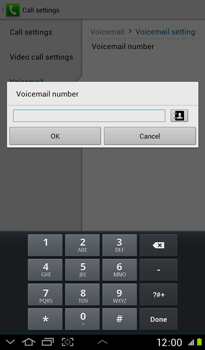 Samsung P3100 Galaxy Tab 2 7-0 - Voicemail - Manual configuration - Step 8