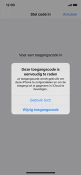 Apple iPhone X - iOS 13 - Beveiliging - stel in of wijzig pincode voor je toestel - Stap 6