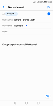 Huawei Mate 10 Pro - E-mails - Envoyer un e-mail - Étape 7