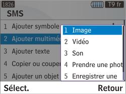 Samsung S3350 Chat 335 - MMS - Envoi d