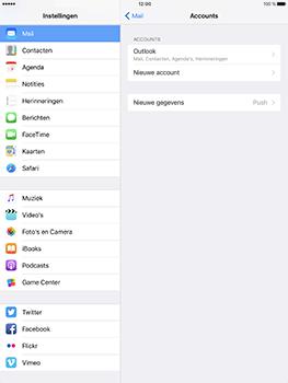 Apple iPad Pro 9.7 - iOS 10 - E-mail - e-mail instellen (outlook) - Stap 10