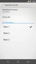 Sony Xperia Z1 - Rete - Selezione manuale della rete - Fase 10