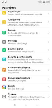 Huawei P20 - Android Pie - Téléphone mobile - Réinitialisation de la configuration d