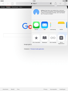 Apple iPad Mini Retina iOS 9 - Internet - Hoe te internetten - Stap 6