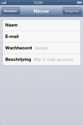 Apple iPhone 4 S - E-mail - Handmatig instellen - Stap 8