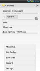 HTC Desire 516 - E-mail - Sending emails - Step 12