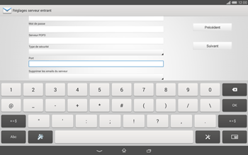 Sony Xperia Tablet Z2 LTE - E-mail - configuration manuelle - Étape 10