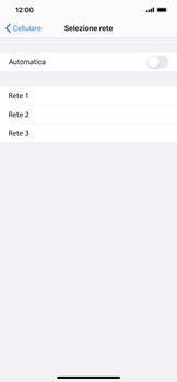 Apple iPhone XR - iOS 13 - Rete - Selezione manuale della rete - Fase 7