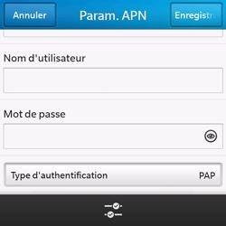 BlackBerry Q10 - Internet et roaming de données - Configuration manuelle - Étape 9
