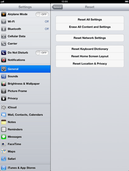 Apple iPad Retina - Mobile phone - Resetting to factory settings - Step 5