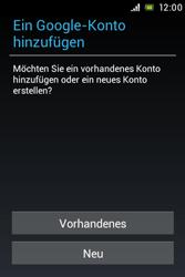 Sony Xperia Miro - Apps - Konto anlegen und einrichten - Schritt 4