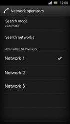 Sony Xperia U - Network - Manual network selection - Step 11