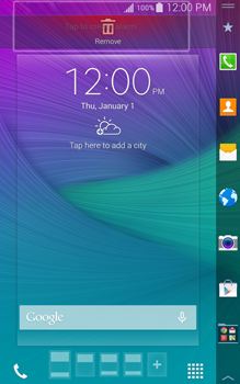 Samsung Galaxy Note Edge - Getting started - Installing widgets and applications on your start screen - Step 8