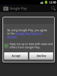 Samsung Galaxy Pocket - Applications - Setting up the application store - Step 17