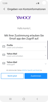 Samsung Galaxy S10e - E-Mail - 032b. Email wizard - Yahoo - Schritt 9