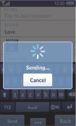 Samsung S8500 Wave - E-mail - Sending emails - Step 12