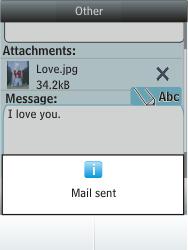 Nokia Asha 300 - E-mail - Sending emails - Step 18