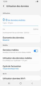 Samsung Galaxy S9 - Android Pie - Internet et roaming de données - Comment vérifier que la connexion des données est activée - Étape 7
