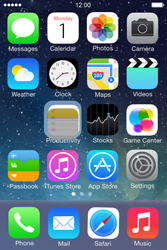 Apple iPhone 4S iOS 7 - Getting started - personalising your Start screen - Step 4