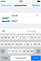 Apple iPhone 4S iOS 7 - Internet und Datenroaming - Verwenden des Internets - Schritt 16