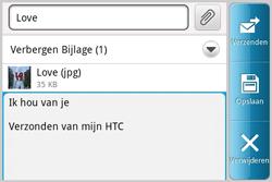 HTC A810e ChaCha - e-mail - hoe te versturen - stap 11