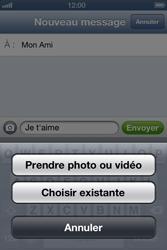 Apple iPhone 4 - iOS 6 - MMS - envoi d'images - Étape 8