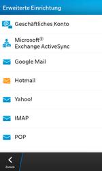 BlackBerry Z10 - E-Mail - Konto einrichten - 0 / 0