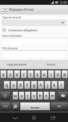 Sony C6603 Xperia Z - E-mail - Configurer l