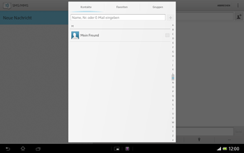 Sony Xperia Tablet Z LTE - MMS - Erstellen und senden - Schritt 8