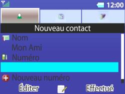 Bouygues Telecom Bc 311 - Contact, Appels, SMS/MMS - Ajouter un contact - Étape 9