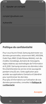 Samsung Galaxy A70 - E-mails - Ajouter ou modifier votre compte Outlook - Étape 13