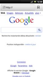 Sony Xperia Arc - Internet - Navigation sur Internet - Étape 4