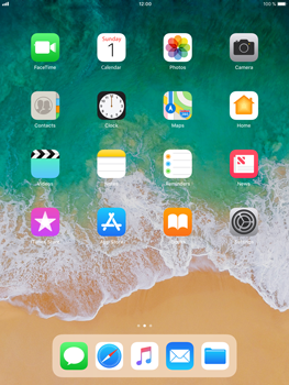 Apple iPad Mini 3 - iOS 11 - Troubleshooter - E-mail, SMS, MMS - Step 1