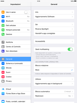 Apple iPad mini iOS 8 - Software - Installazione degli aggiornamenti software - Fase 5
