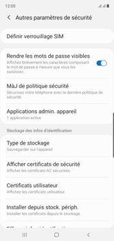 Samsung Galaxy Note 10 - Sécuriser votre mobile - Personnaliser le code PIN de votre carte SIM - Étape 6