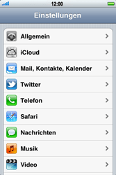 Apple iPhone 3GS - Internet - Manuelle Konfiguration - Schritt 3
