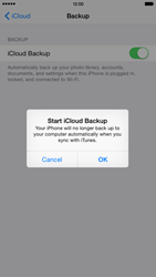 Apple iPhone 6 Plus iOS 8 - Applications - configuring the Apple iCloud Service - Step 12