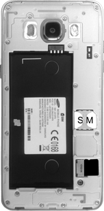 Samsung J510 Galaxy J5 (2016) - SIM-Karte - Einlegen - Schritt 5