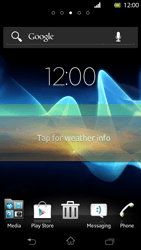 Sony Xperia T - Getting started - Installing widgets and applications on your start screen - Step 8