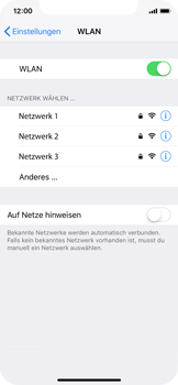 Apple iPhone X - iOS 12 - WLAN - Manuelle Konfiguration - Schritt 5