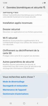 Samsung Galaxy A51 5G - Sécuriser votre mobile - Personnaliser le code PIN de votre carte SIM - Étape 5