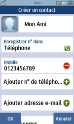Samsung Wave 723 - Contact, Appels, SMS/MMS - Ajouter un contact - Étape 10