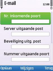 Nokia 6700 slide - E-mail - Handmatig instellen - Stap 14