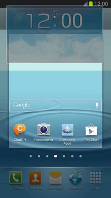 Samsung Galaxy S III - Operazioni iniziali - Installazione di widget e applicazioni nella schermata iniziale - Fase 8