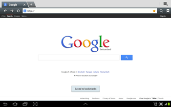 Samsung Galaxy Tab 2 10.1 - Internet and data roaming - Using the Internet - Step 8