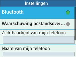 Samsung C3500 Chat 350 - bluetooth - aanzetten - stap 5