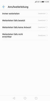 Huawei Mate 10 Lite - Anrufe - Rufumleitungen setzen und löschen - 6 / 9